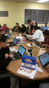 On Technology Day, students created their email accounts and sent emails to one another.