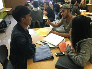 A Span Scholar shares his college experience to SF International students.